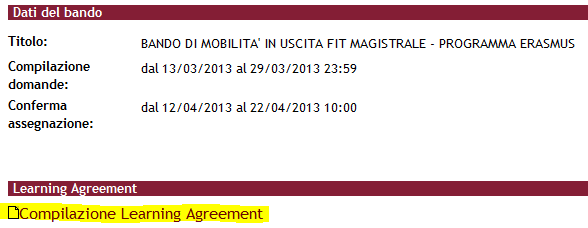 fig.01: Compilazione Learning Agreement