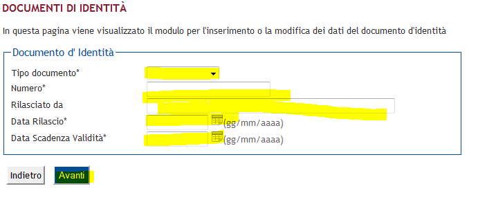 fig.24: Dati del documento di identità